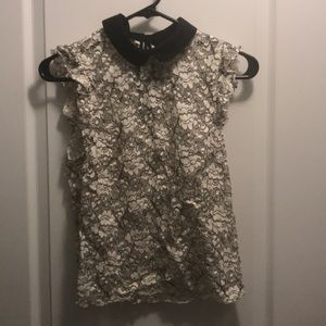 Zara EU Woman See Through Lace Blouse